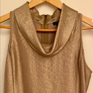 Ann Taylor Gold Cow's Neck Top